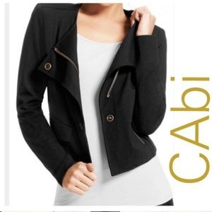 CAbi #615 Black Knit Moto Jacket  EUC, sz S
